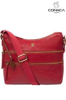 Conkca Georgia Leather Shoulder Bag