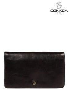 Conkca Cherish Leather Clutch Bag