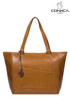 Conkca Monique Leather Tote Bag