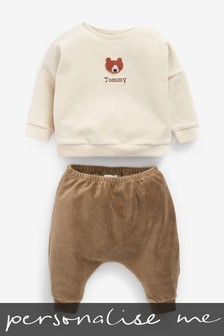 Personalised Velour Crew And Trousers Set