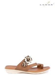 Lunar Larkin Leopard Strappy Sandals