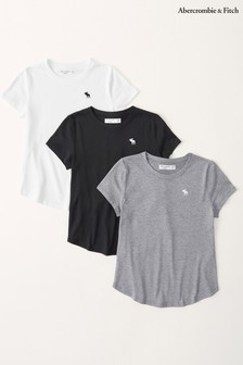Abercrombie & Fitch Short Sleeve T-Shirts 3 Pack