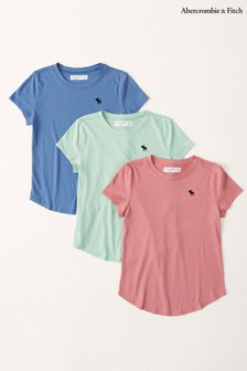 Abercrombie & Fitch Core Crew Neck T-Shirts 3 Pack