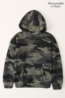 Abercrombie & Fitch Camouflage Easy Fit Logo Hoodie