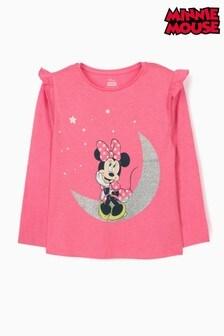 Zippy Girls Pink Disney Minnie Moon Long Sleeve Top