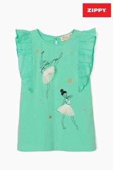 Zippy Girls Green Ballerinas T-Shirt