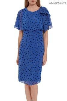 Gina Bacconi Jolana Spot Chiffon Dress