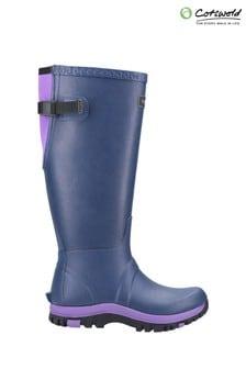 Cotswolds Purple Realm Adjustable Wellington Boots