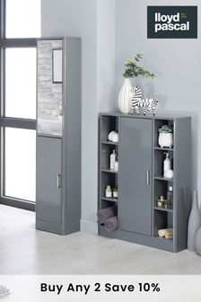 Radium Nouveau Gloss Curved Console Unit with Door By Lloyd Pascal