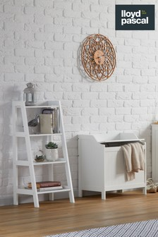 Colonial Laundry Hamper in White By Lloyd Pascal