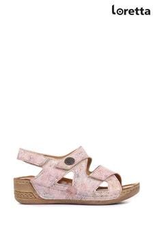 Loretta Pink Ladies Fully Adjustable Sandals