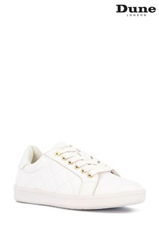 Dune London White Excited Quilted Trainers