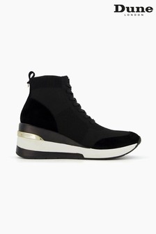Dune London Black Enlicia Lace-Up Sock Trainers