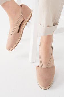 Sand Closed Toe Espadrille Shoes