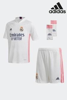 adidas Originals Real Madrid 20/21 Home Youth Kit