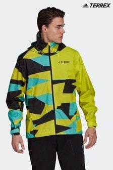 adidas Terrex Multi RAIN.RDY Primegreen Allover Print 2 Layer Rain Jacket