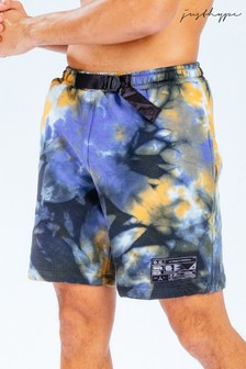 Hype. x E.T Black and Orange Tie Dye Logo Shorts