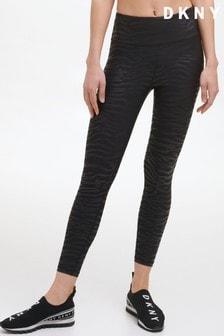 DKNY Black Tiger Print High Waist Leggings