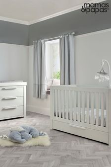 White Mamas & Papas Franklin Cot Bed Set with Dresser