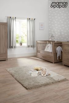 Grey 3 Piece Mamas & Papas Franklin Cot Bed Range with Dresser and Wardrobe
