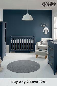 3 Piece Mamas & Papas Melfi Cot Bed Range with Dresser and Compact Storage Wardrobe
