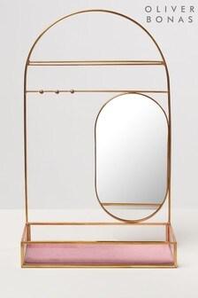 Oliver Bonas Oval Mirror Jewellery Stand