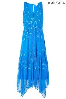 Monsoon Carmela Sequin Hanky Hem Dress