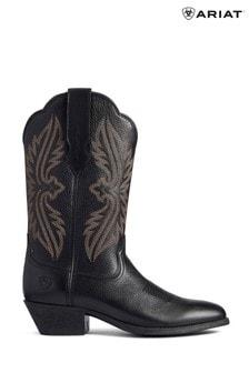 Ariat Black Heritage R Toe Stretchfit Boots