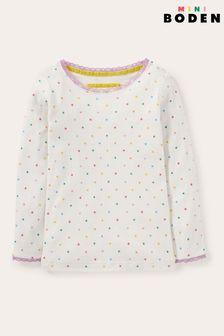 Boden White Supersoft Pointelle T-Shirt