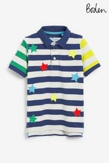 Boden Blue Pique Polo Shirt