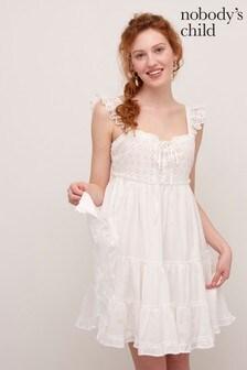 Nobody's Child White India Mini Dress