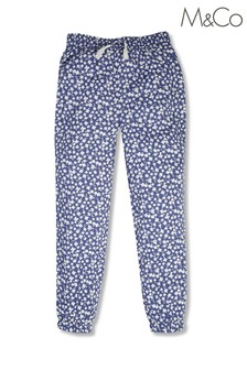 M&Co Blue Ditsy Floral Print Joggers