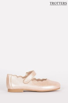 Trotters London Pink Lilly Party Shoes