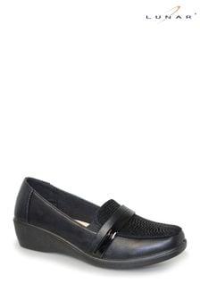 Lunar Black Esther Wedge Shoes