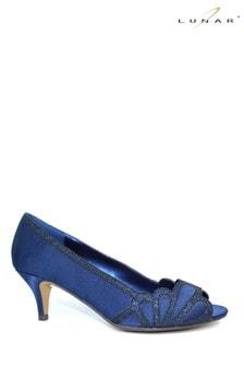Lunar Blue Dalia Kitten Heel Shoes