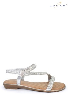 Lunar Silver Blaise Glitz Sandals