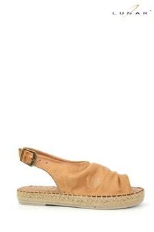 Lunar Tan Ana Leather Espadrille Sandals