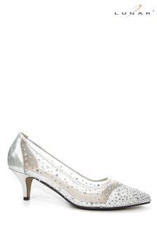 Lunar Silver Alisha Gemstone Kitten Heel Shoes