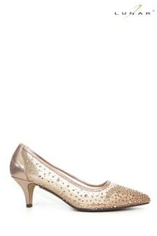 Lunar Gold Alisha Gemstone Kitten Heels