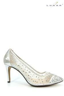 Lunar Silver Argo Mesh Court Shoes