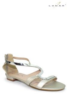 Lunar Silver Andie Gladiator Sandals