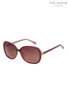Ted Baker Burgundy & Pink Oversized Fashion Sunglasses