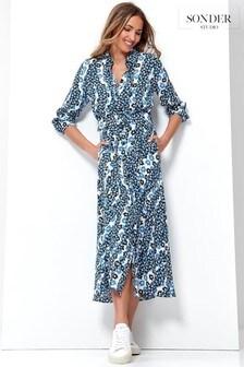 Sonder Studio Sienna Ditsy Belted Midi Dress