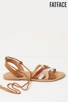 FatFace Tan Hollie Wrap Detail Sandals