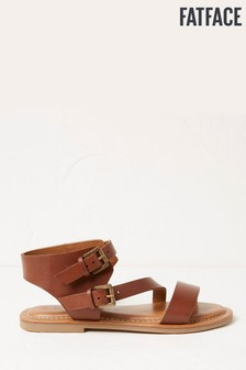 FatFace Tan Ellen Buckle Strap Sandals