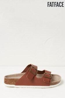 FatFace Tan Meldon Double Strap Sandals