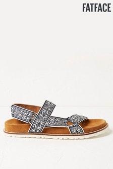 FatFace Tan Woven Strap Sandals
