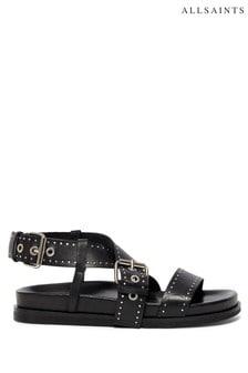 AllSaints Black Nina Sandals