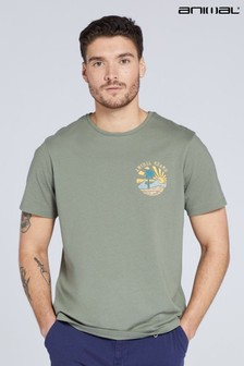 Animal Mens Palm Print Organic T-Shirt