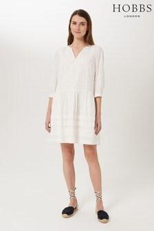 Hobbs White Maia Dress